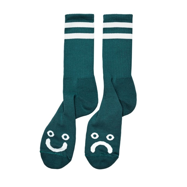 Polar Skate Co. Happy Sad Socks (Dark Green)