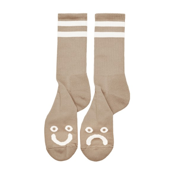 Polar Skate Co. Happy Sad Socks (Sand)
