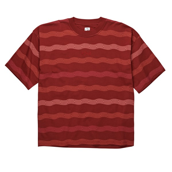Polar Skate Co. Wavy Surf T-Shirt (Brick Red)
