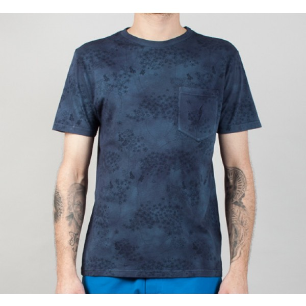 Lightning Bolt Herbal All Over Printed T-Shirt (Dress Blue)