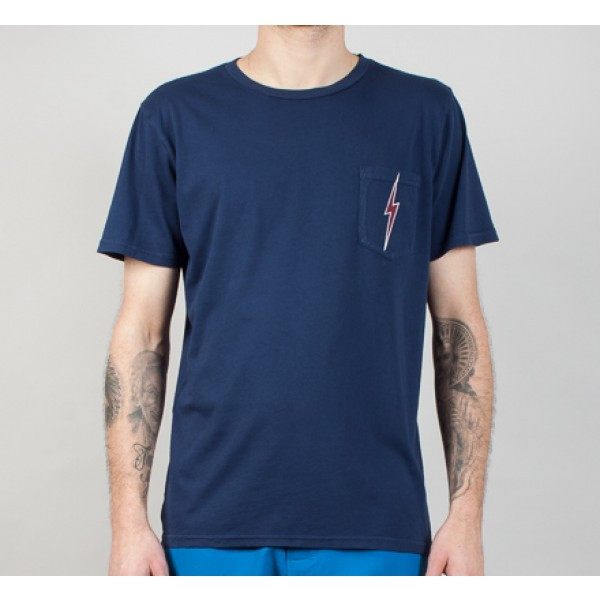 Lightning Bolt OG Pocket T-Shirt (Insignia Blue)