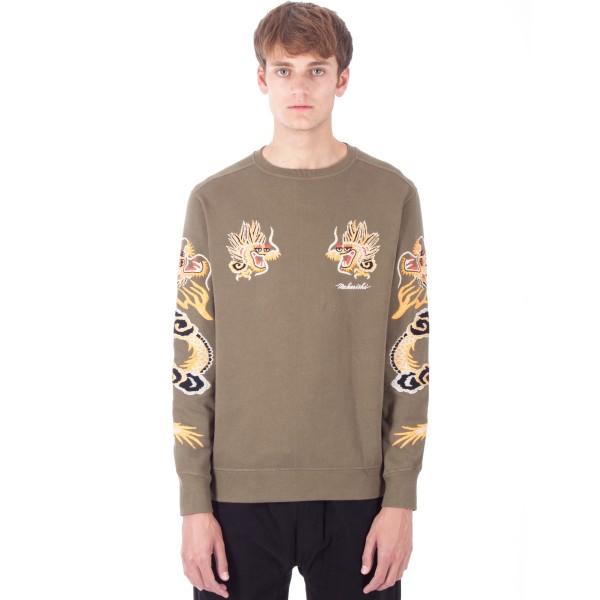 Maharishi Golden Crew Neck Sweatshirt (Maha Olive)