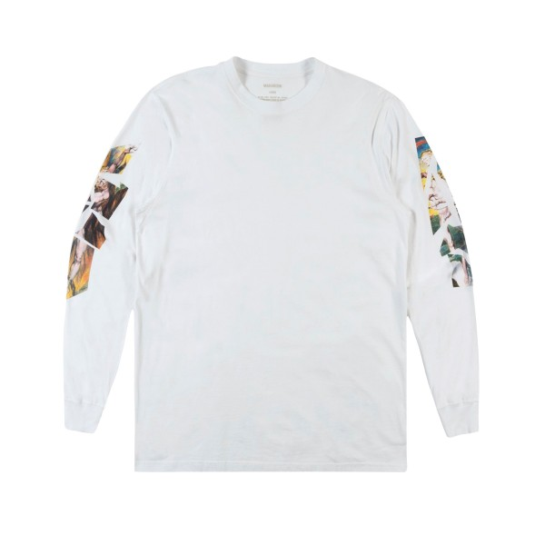 Maharishi Heaven and Hell Long Sleeve T-Shirt (White Shattered Blake Print)