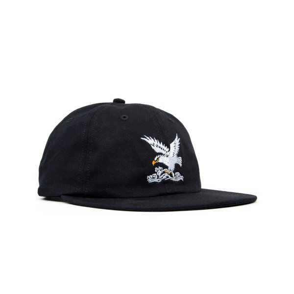 Maharishi Maha Eagle Head Embroidery 6 Panel Cap (Black)