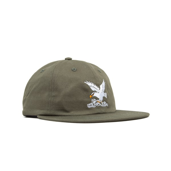 Maharishi Maha Eagle Head Embroidery 6 Panel Cap (Olive)