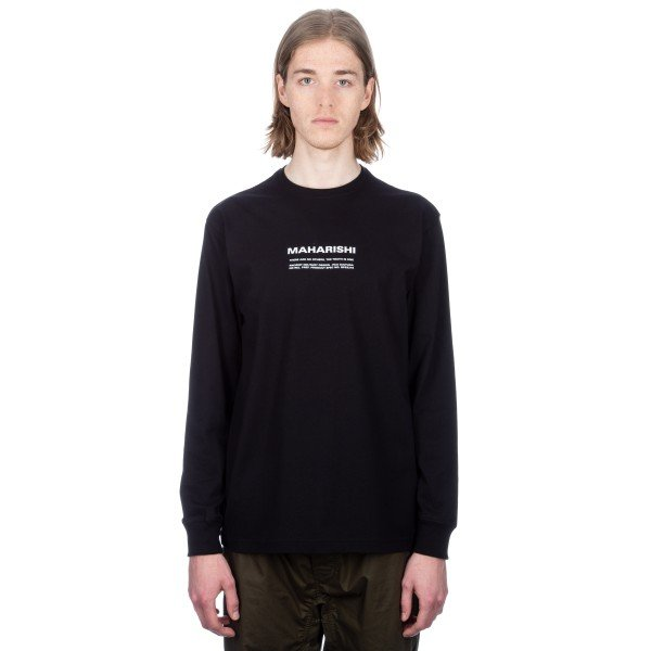Maharishi Maha Miltype Long Sleeve T-Shirt (Black)