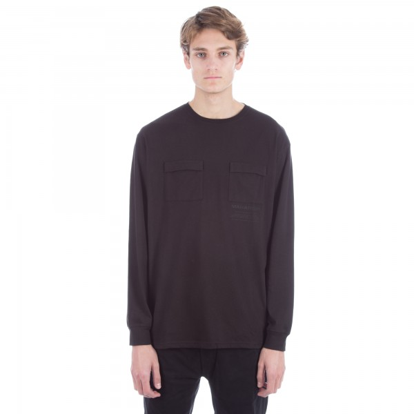 Maharishi Miltype Long Sleeve T-Shirt (Black)