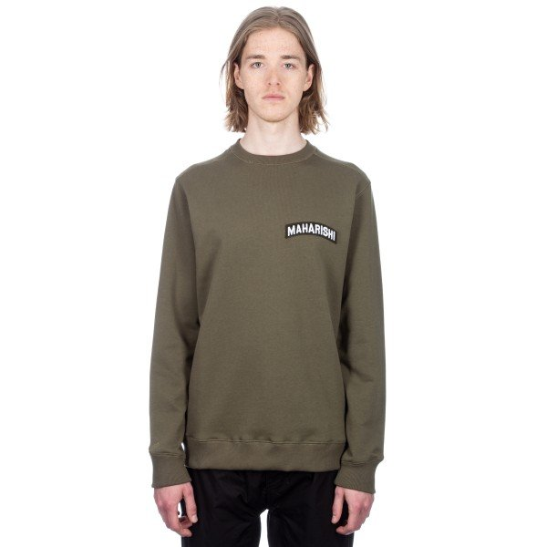 Maharishi Patch Crewneck Sweat (Mil Olive)