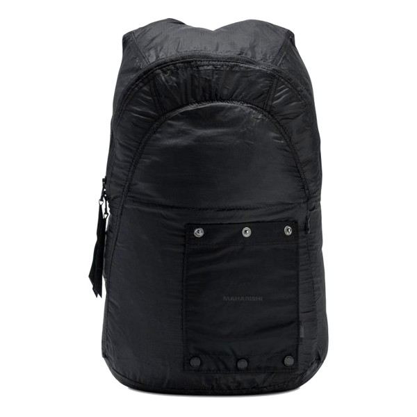 Maharishi Rollaway Lightweight Nylon Micro Ripstop Backpack (Black)