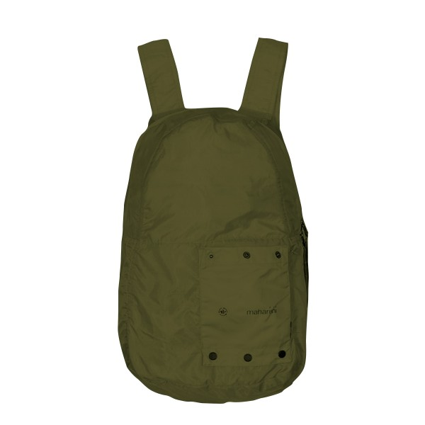 Maharishi Rollaway Lightweight Nylon Micro Ripstop Backpack (Olive)