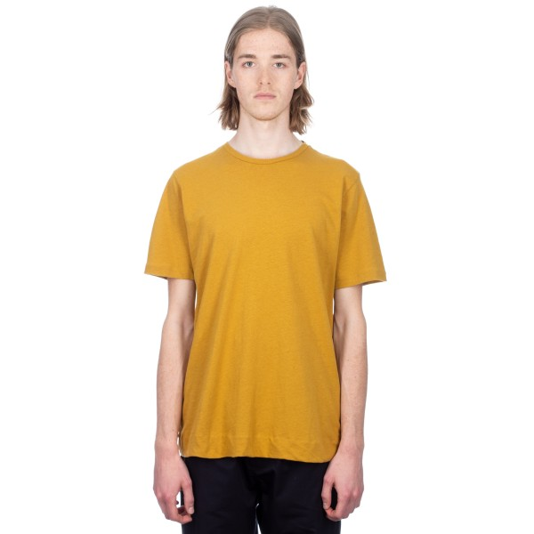 MHL by Margaret Howell Basic T-Shirt (Cotton Linen Jersey Ochre)