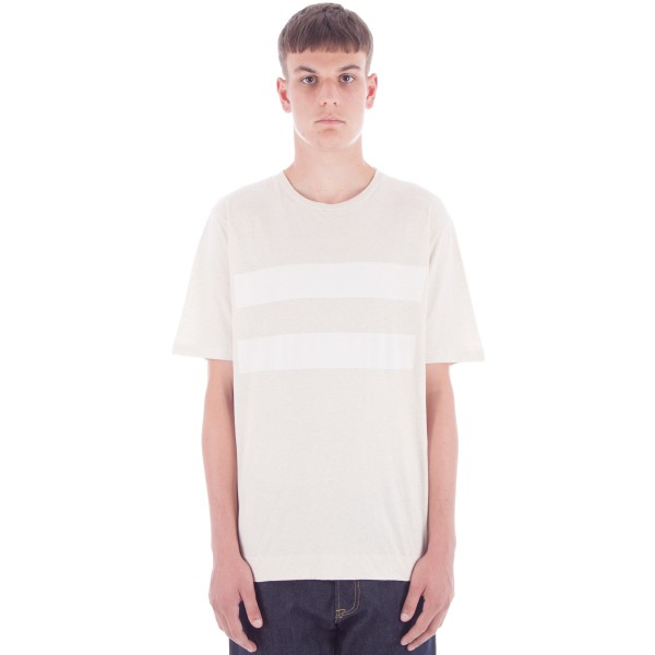 MHL by Margaret Howell Block Print Basic T-Shirt (Natural/Optic White)