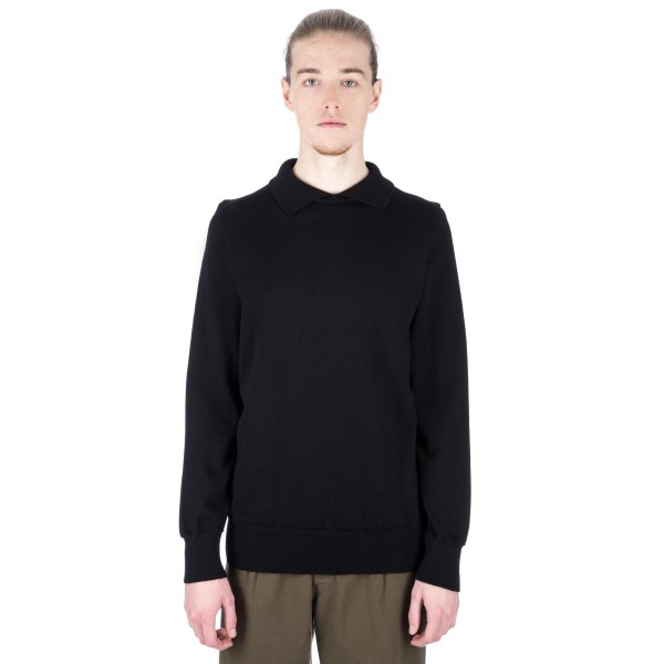 MHL by Margaret Howell High Collar Jumper (Black)