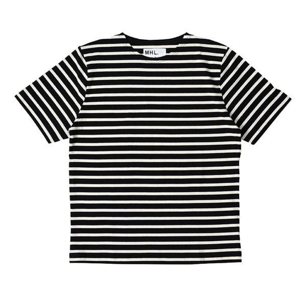 MHL by Margaret Howell Matelot Naval Stripe Jersey T-Shirt (Black/Natural)