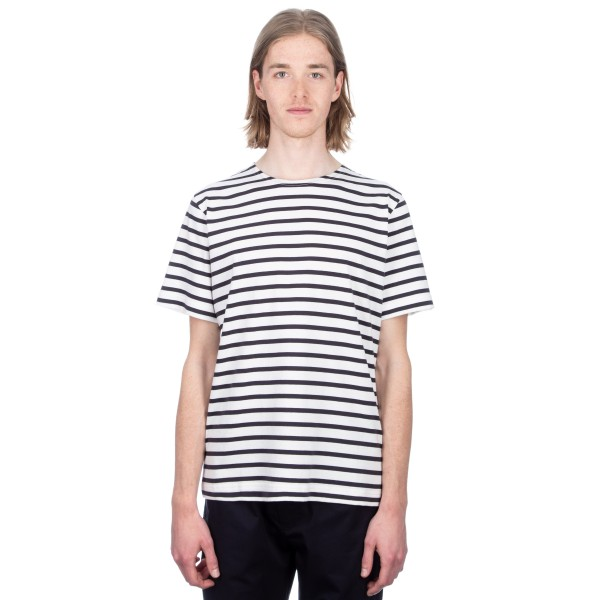 MHL by Margaret Howell Matelot T-Shirt (Naval Stripe Jersey Ecru)