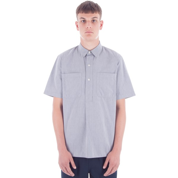 MHL by Margaret Howell Pleat Back Work T-Shirt (Poplin/GZT Grey)