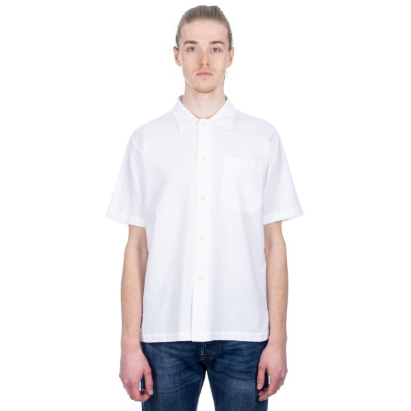 MHL by Margaret Howell Simple Airtex Shirt (FZW White)