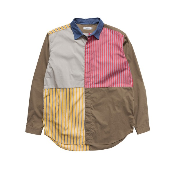 nanamica Crazy Wind Shirt (Beige/Red/Yellow)