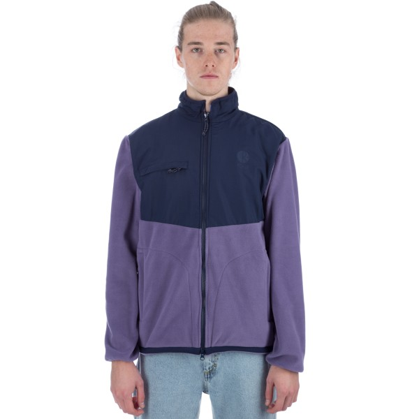 Polar Halberg Fleece Jacket (Lilac/Navy)