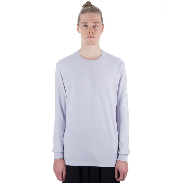 Polar Script Logo Long Sleeve T-Shirt (Dusty Lavender)