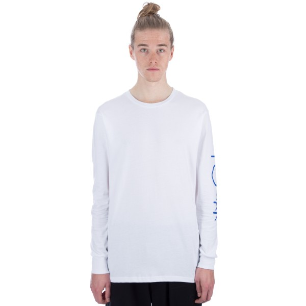 Polar Script Logo Long Sleeve T-Shirt (White)