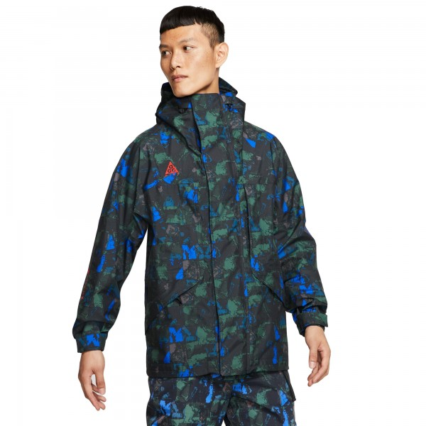 Nike ACG GORE-TEX AOP Jacket (Racer Blue/Habanero Red)