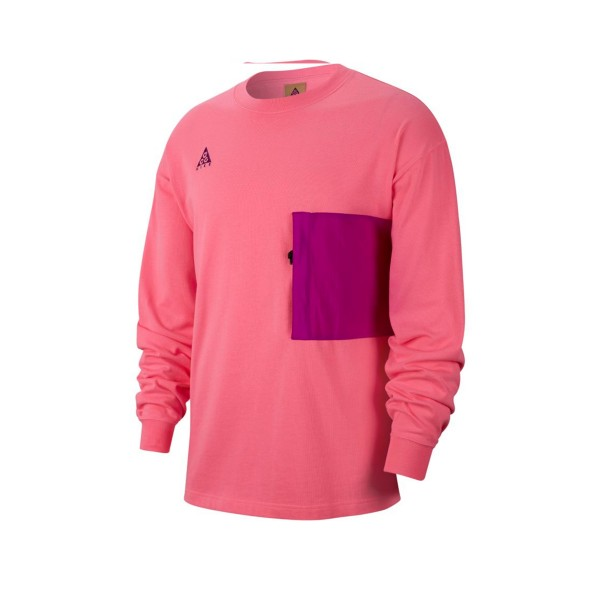 Nike ACG Heavyweight Long Sleeve T-Shirt (Lotus Pink/Vivid Pink)