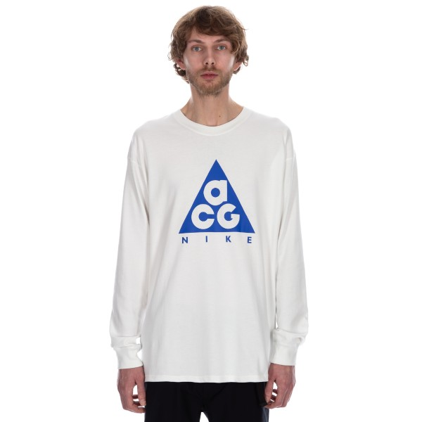 Nike ACG NRG Logo Long Sleeve T-Shirt (Summit White/Racer Blue)