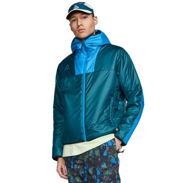 Nike ACG Primaloft Hooded Jacket (Midnight Turquoise/Imperial Blue/Black)
