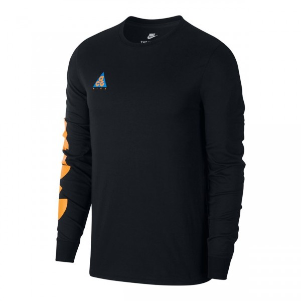 Nike ACG Sportswear Long Sleeve T-Shirt (Black/Bright Mandarin)