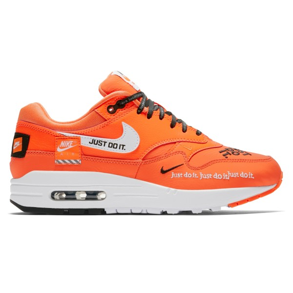 Nike Air Max 1 Lux WMNS 'Just Do It' (Total Orange/White-Black)