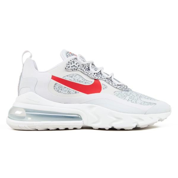 Nike Air Max 270 React 'Safari' (Neutral Grey/University Red-Light Graphite)