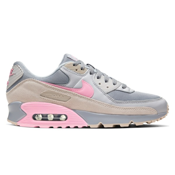 Nike Air Max 90 (Vast Grey/Pink-Wolf Grey-String)