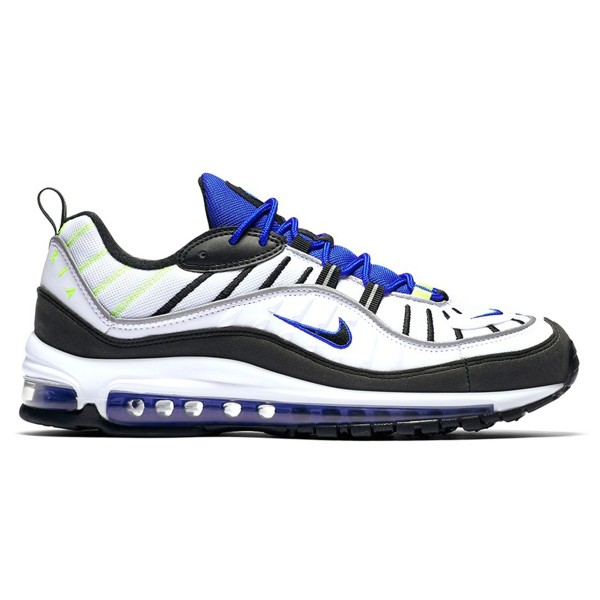 Nike Air Max 98 'Sprite' (White/Black-Racer Blue-Volt)