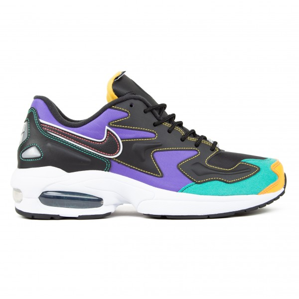 Nike Air Max2 Light Premium 'Black Purple' (Black/Flash Crimson-Kinetic Green)