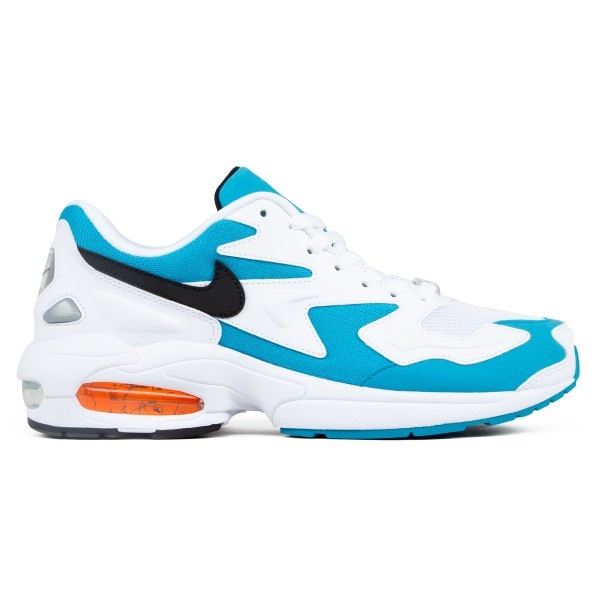 Nike Air Max2 Light OG 'Blue Lagoon' (White/Black-Blue Lagoon-Laser Orange)