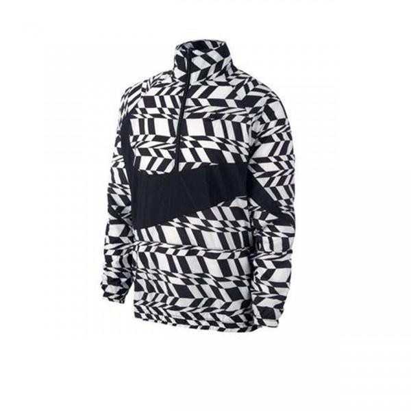 Nike AOP VW Woven Swoosh Jacket (White/Black/Black)