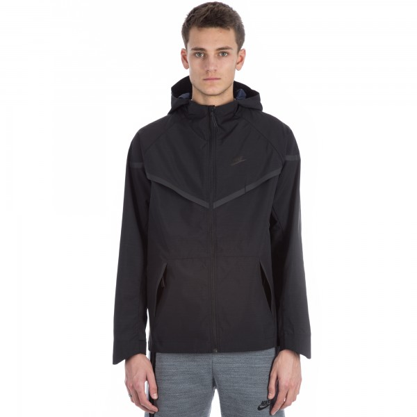 Nike Bonded Windrunner Jacket (Black/Obsidian/Black)
