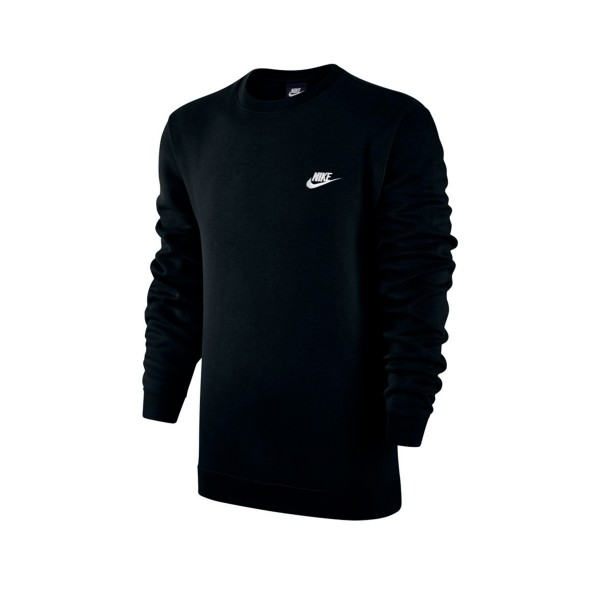 Nike Club Crew Neck Sweatshirt (Black/White)