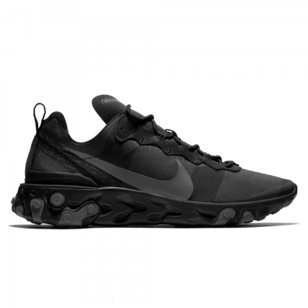 Nike React Element 55 'Triple Black' (Black/Dark Grey)