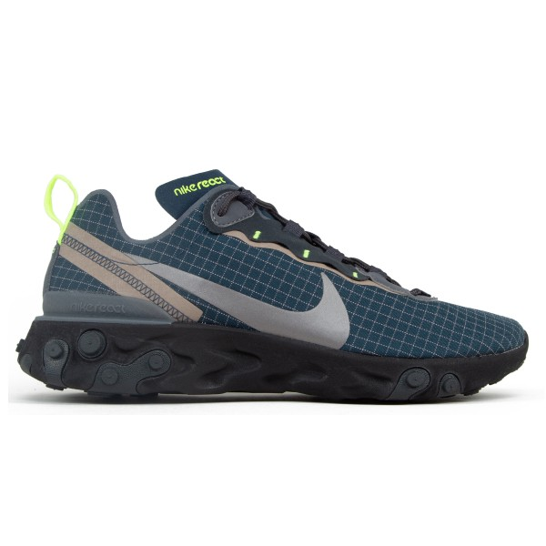 Nike React Element 55 'Green Grid' (Armory Navy/Metallic Dark Grey-Volt)