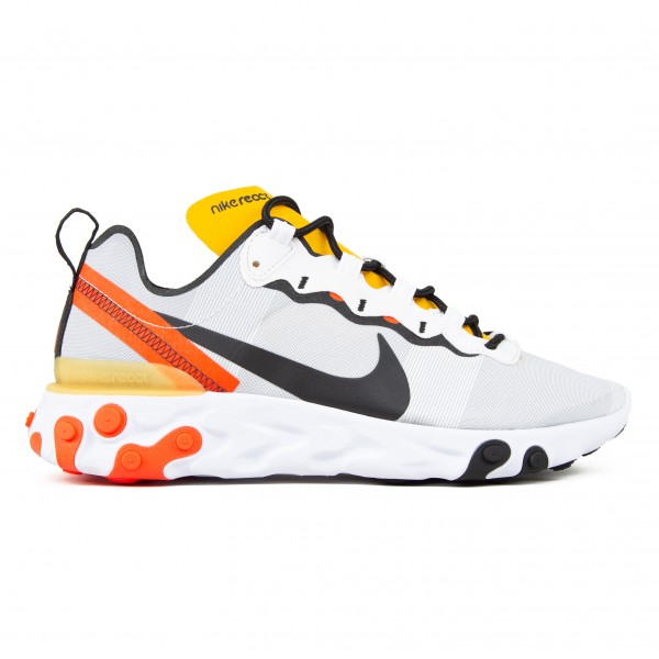 Nike React Element 55 (White/Black-Bright Crimson)