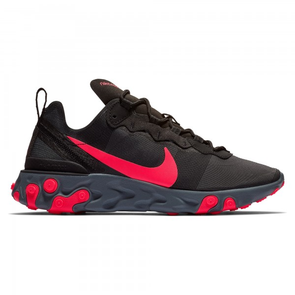 Nike React Element 55 WMNS (Black/Solar Red-Cool Grey-Dark Grey)