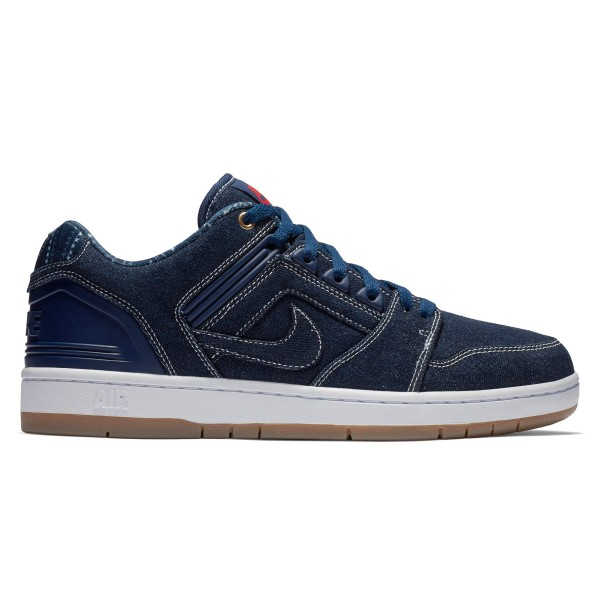 Nike SB Air Force II Low 'Rivals Denim Pack' (Binary Blue/Binary Blue-White)