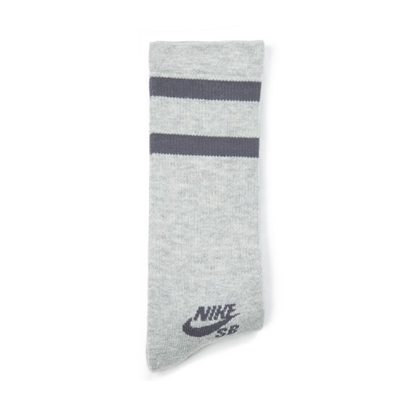 Nike SB Dri-FIT Crew Socks Triple Pack (Dark Grey Heather/Dark Grey)