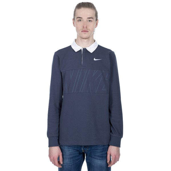Nike SB Dry Long Sleeve Polo Shirt (Thunder Blue/White)