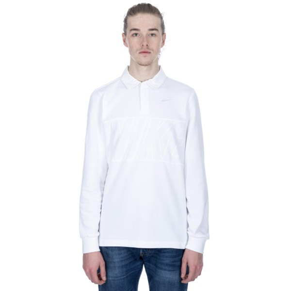 Nike SB Dry Long Sleeve Polo Shirt (White/White/White/White)