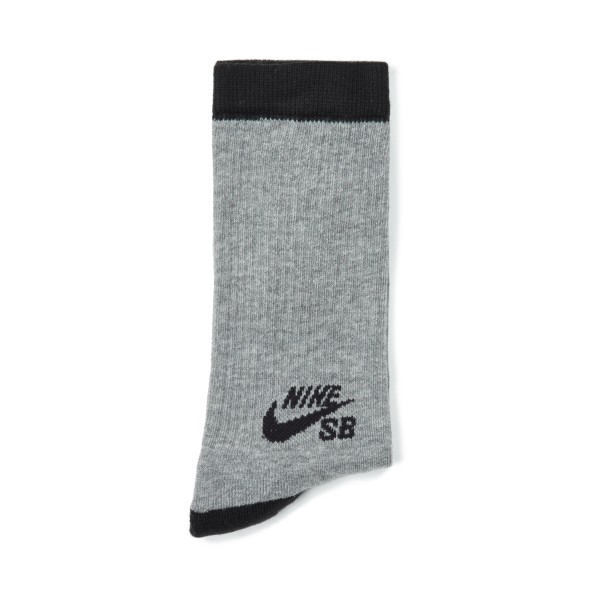 Nike SB Skateboarding Crew Socks Triple Pack (Dark Grey Heather/Black)