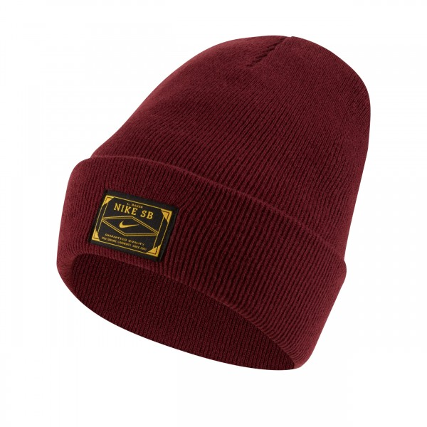 "Nike SB x Leo Baker Beanie ""Orange Label Collection"" (Night Maroon/Dark Sulfur)"