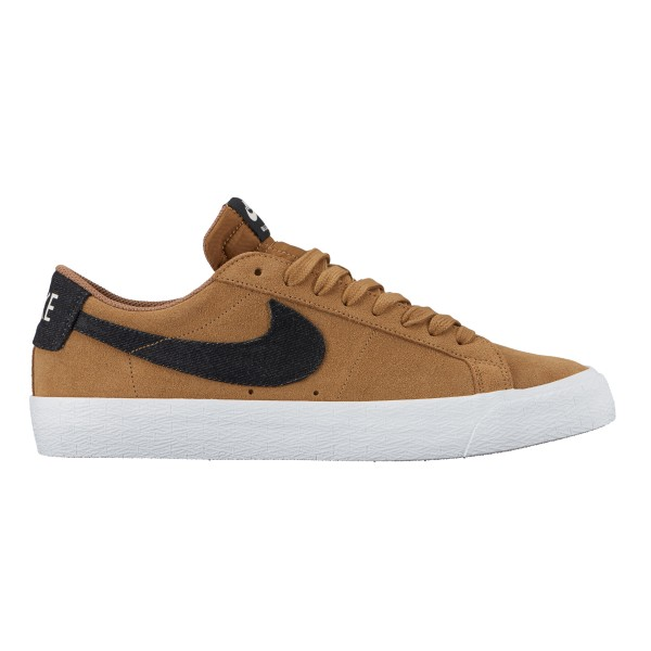 Nike SB Zoom Blazer Low (Golden Beige/Black-Sail-Gum Light Brown)